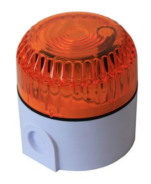 Orange blixtljus 6W