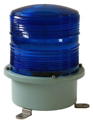 Blått blixtljus 230V större