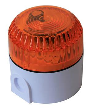 Orange blixtljus 2W