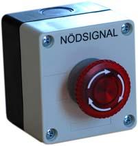 Nödsignalknapp SCB3DL med lysdiod